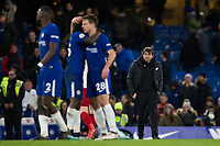 Chelsea manager Antonio Conte looks dejected after the final whistle despite his side's 3-0 victory <br /> <br /> Photographer Craig Mercer/CameraSport<br /> <br /> The Premier League - Chelsea v West Bromwich Albion - Monday 12th February 2018 - Stamford Bridge - London<br /> <br /> World Copyright &copy; 2018 CameraSport. All rights reserved. 43 Linden Ave. Countesthorpe. Leicester. England. LE8 5PG - Tel: +44 (0) 116 277 4147 - admin@camerasport.com - www.camerasport.com