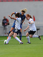 Action during the UEFA Womens U19 Final at Parc y Scarlets Saturday 31st August 2013. All images are the copyright of Jeff Thomas Photography-www.jaypics.photoshelter.com-07837 386244-Any use of images must be authorised by the copyright owner.