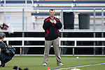 09 May 2015: Ohio State head coach Nick Myers. The Duke University Blue Devils hosted the Ohio State University Buckeyes at Koskinen Stadium in Durham, North Carolina in a 2015 NCAA Division I Men's Lacrosse Tournament First Round match. Ohio State won the game 16-11.