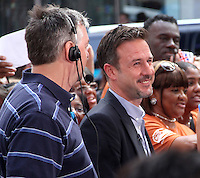 July 23,  2012 David Arquette at Good Morning  America to talk about new Travel Channel TV show Mile High and his work with @EcoMom a initiative to feed hungry children  in New York City.Credit:&copy; RW/MediaPunch Inc. /NortePhoto.com*<br />