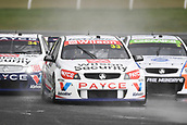 15th September 2017, Sandown Raceway, Melbourne, Australia; Wilson Security Sandown 500 Motor Racing; Garth Tander (33) drives the Wilson Security Racing GRM Holden Commodore VF leads a pack during Supercars practice