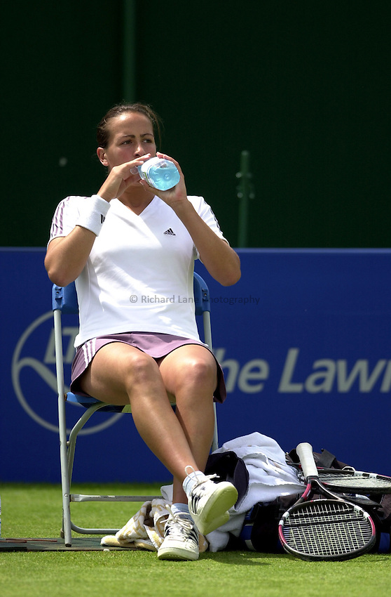 Photo: Richard Lane..DFS Classic Women's International Tennis at Edgebaston. 09/06/2003..Jane O'Donoghue.