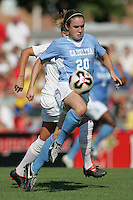 OCT 2, 2005: College Park, MD, USA:  UNC Tarheel forward #20 Heather O'Reilly controls the ball while playing the Maryland Terrapins at Ludwig Field.  UNC won, 4-0. Mandatory Credit: Photo By Brad Smith (c) Copyright 2005 Brad Smith