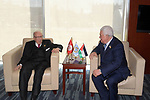 Palestinian President Mahmoud Abbas meets with the Tunisian President, in Addis Ababa, Ethiopia, on February 10, 2019. Photo by Thaer Ganaim