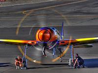 Rare Bear run up. Grumman F8F Bearcat at the Reno Air Races