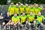 Boherbue Boys, Tralee celebrate finishing the Ring of Kerry cycle in Killarney on Saturday front row l-r: Mark Sheehy, Martin Hurley, Cathal foley, Henry Burrows, Tommy O'Dowd. Back row: Denis O'Sullivan, Denis Buckley, John Joe Sheehy, Pat Walsh, Brendan dillane and Seamus O'Mahony