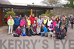 Some of the group of walkers who took part in the Irish Hospice Walk in Muckross, Killarney on Friday.