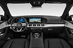 Stock photo of straight dashboard view of a 2020 Mercedes Benz GLE AMG-Line 5 Door SUV
