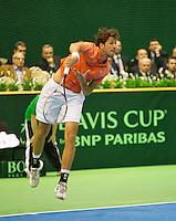 05-04-13, Tennis, Rumania, Brasov, Daviscup, Rumania-Netherlands,Robin Haase