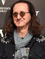 Award-winning musician and songwriter Geddy Lee, best known as the lead vocalist, bassist and keyboardist for the legendary Canadian rock group, Rush, signs his Big Beautiful Book of Bass at Waterstones, Piccadilly, London on June 8th 2019<br />
