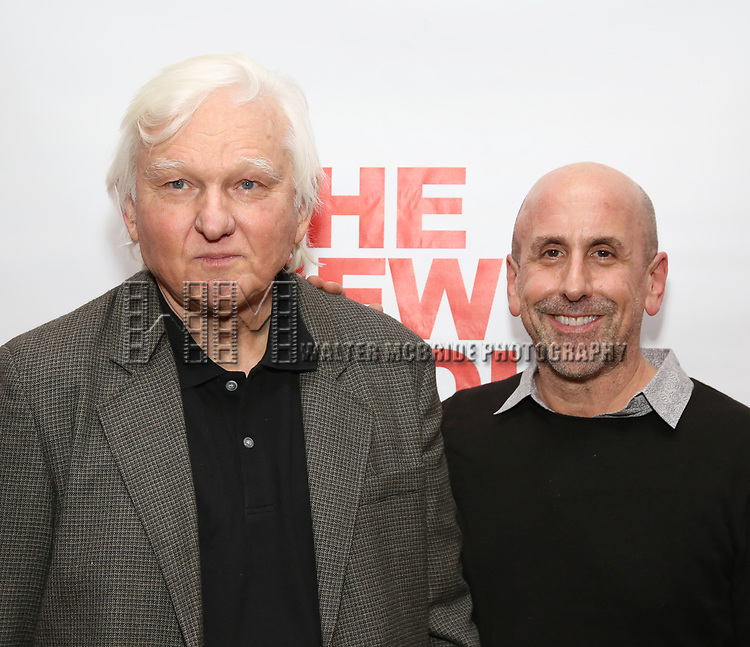 """David Rabe and Scott Elliott attends The New Group presents the New York Premiere Opening Night of David Rabe's for """"Good for Otto"""" on March 8, 2018 at the Green Fig Urban Eatery,  in New York City."""