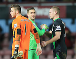 West Ham's Adrian embraces Stoke's Jack Butland at the final whistle<br /> <br /> Barclays Premier League - West Ham United v Stoke City - Upton Park - England -12th December 2015 - Picture David Klein/Sportimage