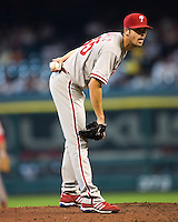 Hamels, Cole 5783.jpg Philadelphia Phillies at Houston Astros. Major League Baseball. September 6th, 2009 at Minute Maid Park in Houston, Texas. Photo by Andrew Woolley.