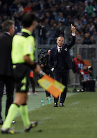 Calcio, Serie A: Lazio vs Milan. Roma, stadio Olimpico, 1 novembre 2015.<br /> Lazio coach Stefano Pioli gestures during the Italian Serie A football match between Lazio and Milan at Rome's Olympic stadium, 1 November 2015.<br /> UPDATE IMAGES PRESS/Isabella Bonotto