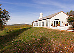 Barboursville Vineyards' tasting room, events room, and restaurant facility is on high ground overlooking surrounding vineyards and countryside.