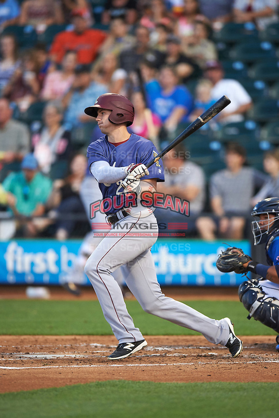 Frisco RoughRiders center fielder Ryan Cordell (20) at bat during a game against the Corpus Christi Hooks on April 23, 2016 at Whataburger Field in Corpus Christi, Texas.  Corpus Christi defeated Frisco 3-2.  (Mike Janes/Four Seam Images)