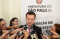 SAO PAULO, 05 DE JULHO DE 2012 - KASSAB BALANCO DA GESTAO - Prefeito Gilberto Kassab durante apresentacao de balanco da gestao, na sede da prefeitura municipal de Sao Paulo, na manha desta quinta feira, regiao central da capital. FOTO: ALEXANDRE MOREIRA - BRAZIL PHOTO PRESS