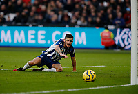 1st February 2020; London Stadium, London, England; English Premier League Football, West Ham United versus Brighton and Hove Albion; Pascal Gross of Brighton and Hove Albion watches the ball roll into the net for a goal in the 75th minute to make it 3-2
