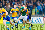 Stephen O'Brien Kerry in action against Clare during the Munster Senior Football Semi Final between Kerry and Clare at Ennis on Saturday night.