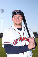 A.J. Reed (40) of the Lancaster JetHawks poses for a photo before a game against the Lake Elsinore Storm at The Hanger on May 9, 2015 in Lancaster, California. Lancaster defeated Lake Elsinore, 3-1. (Larry Goren/Four Seam Images)