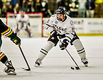 17 October 2015: University of Nebraska Omaha Maverick Forward Jake Randolph, a Sophomore from Duluth, MN, in first period action against the University of Vermont Catamounts at Gutterson Fieldhouse in Burlington, Vermont. The Mavericks defeated the Catamounts 3-1 in the second game of their weekend series. Mandatory Credit: Ed Wolfstein Photo *** RAW (NEF) Image File Available ***