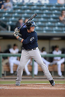 ***Temporary Unedited Reference File***Mobile BayBears first baseman Kevin Cron (35) during a game against the Jacksonville Suns on April 18, 2016 at The Baseball Grounds in Jacksonville, Florida.  Mobile defeated Jacksonville 11-6.  (Mike Janes/Four Seam Images)