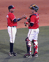 10 April 2008: Photo of the Mississippi Braves, Class AA affiliate of the Atlanta Braves, in a game against the Mobile BayBears at Trustmark Park in Pearl, Miss. Photo by:  Tom Priddy/Four Seam Images