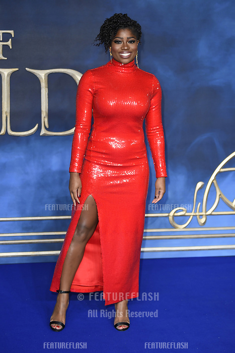 LONDON, UK. November 13, 2018: Clara Amfo at the &quot;Fantastic Beasts: The Crimes of Grindelwald&quot; premiere, Leicester Square, London.<br /> Picture: Steve Vas/Featureflash