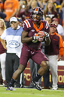 Landover, MD - September 3, 2017: Virginia Tech Hokies wide receiver Cam Phillips (5) in action during game between Virginia Tech and WVA at  FedEx Field in Landover, MD.  (Photo by Elliott Brown/Media Images International)