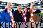 Philip O'Sullivan, Maureen O'Sullivan, Bernie Hickey and Helina O'Sullivan Brosna supporters at the Junior Football All Ireland Club Final in Croke Park on Saturday.