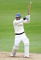 PICTURE BY VAUGHN RIDLEY/SWPIX.COM - Cricket - County Championship, Div 2 - Yorkshire v Northamptonshire, Day 3  - Headingley, Leeds, England - 01/06/12 - Yorkshire's Azeem Rafiq hits out.