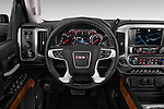 2015 GMC Sierra 3500 SLT 4 Door Truck Steering Wheel Stock Photo