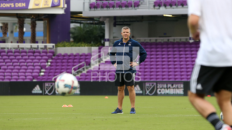 Orlando, Florida - Friday January 12, 2018: Todd Yeagley. The 2018 adidas MLS Player Combine Skills Testing was held Orlando City Stadium.