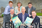 Pictured at the launch of the tourist maps covering Killarney and the Ring of Kerry on Monday were Conor Hennigan, Johnny Maguire, Paul Sherry, John Cronin, Eileen Daly and Tom Randles.