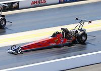Sep 14, 2013; Charlotte, NC, USA; NHRA top alcohol dragster driver Don Nolan during qualifying for the Carolina Nationals at zMax Dragway. Mandatory Credit: Mark J. Rebilas-
