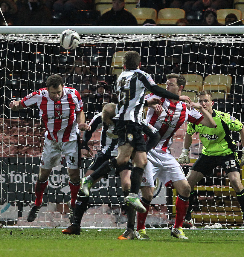 Notts County's Alan Judge scores his sides first goal  ..Football - npower Football League Division One - Notts County v Sheffield United - Saturday 19th January 2013 - Meadow Lane - Nottingham..© CameraSport - 43 Linden Ave. Countesthorpe. Leicester. England. LE8 5PG - Tel: +44 (0) 116 277 4147 - admin@camerasport.com - www.camerasport.com