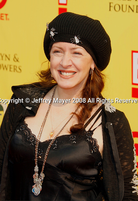 "SANTA MONICA, CA. - November 16: Actress Joely Fisher arrives at the 11th Anniversary Of P.S. Arts ""Express Yourself 2008"" at the Barker Hanger at the Santa Monica Airport on November 16, 2008 in Santa Monica, California."