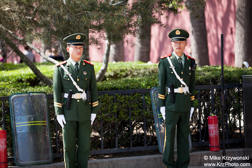 Young military guards at the Forbidden City in Beijing, China