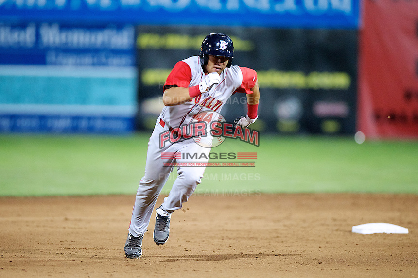 Brooklyn Cyclones outfielder Stefan Sabol #44 during a game against the Batavia Muckdogs at Dwyer Stadium on July 25, 2012 in Batavia, New York.  Brooklyn defeated Batavia 3-2.  (Mike Janes/Four Seam Images)