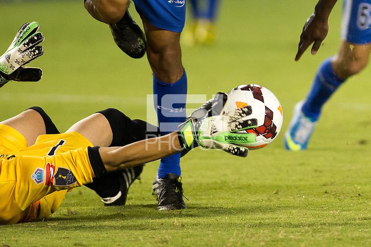 CARSON, California - September 18, 2013: The LA Galaxy defeated Isidro Metapan of El Salvador 1-0 during CONCACAF Champions League play at StubHub Center stadium.