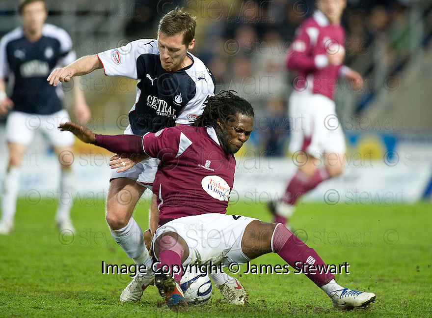 05/05/2010   Copyright  Pic : James Stewart.sct_js008_falkirk_v_st_johnstone  .::  COLLIN SAMUEL IS CHALLENEGD FROM BEHIND BY BURTON O'BRIEN ::  .James Stewart Photography 19 Carronlea Drive, Falkirk. FK2 8DN      Vat Reg No. 607 6932 25.Telephone      : +44 (0)1324 570291 .Mobile              : +44 (0)7721 416997.E-mail  :  jim@jspa.co.uk.If you require further information then contact Jim Stewart on any of the numbers above.........