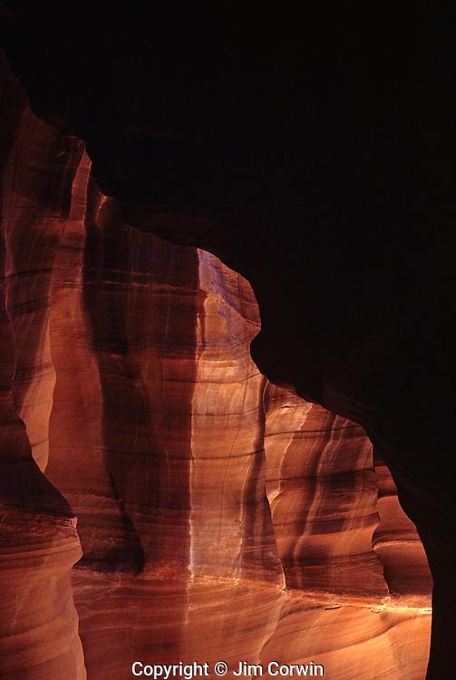 Antelope Canyon rock formations inside slot canyon Arizona State USA