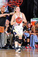 25 November 2011:  FIU guard Zsofia Labady (3) handles the ball in the first half as the University of Maryland Terrapins defeated the FIU Golden Panthers, 84-52, at the U.S. Century Bank Arena in Miami, Florida.