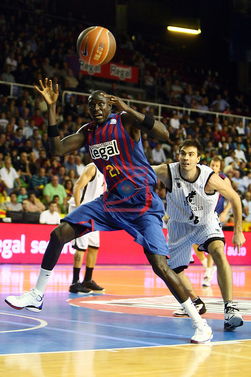 Boniface Ndong. FC Barcelona Regal vs Bizkaia Bilbao Basket: 91-72 (League ACB/Endesa 2011/12-Season: 4)
