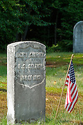 U.S. Soldier, War of 1812, headstone at Candia Village Cemetery in Candia, New Hampshire.