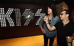 SIOUX FALLS, SD - JULY 20: KISS members Tommy Thayer and Eric Singer looks at the areas of the rehearsal rooms at the Brennan Rock & Roll Academy Saturday afternoon in Sioux Falls.  (Photo by Dave Eggen/Inertia)