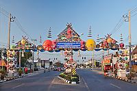 Sign for the Bosang Umbrella festival, Chiang Mai, Thailand.