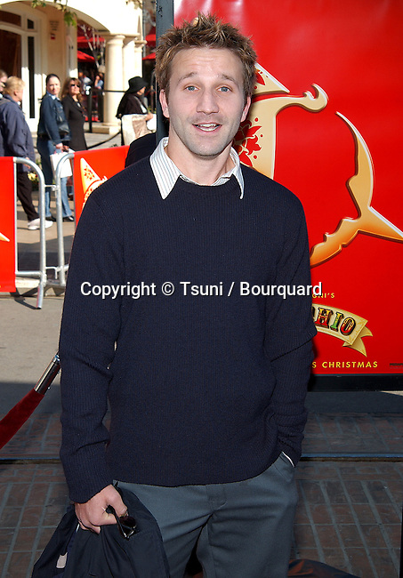 "Breckin Meyer arriving at The L..A. Premiere of ""Pinocchio""  at Pacific's The  Grove Theatre in Los Angeles. December, 22, 2002.            -            MeyerBreckin010.jpg"
