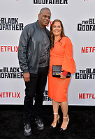 "LOS ANGELES, USA. June 04, 2019: Jon Platt & Angie Platt at the premiere for ""The Black Godfather"" at Paramount Theatre.<br /> Picture: Paul Smith/Featureflash"