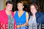 "Ballygarry HoLAUNCH; Nora Crean (Camp), Noreen Ashe and Kathleen Moriarty (Annascaul) who were at the launch of Noreen Ashe's CD ""Waltzing Tro' Ireland"", on Friday night in the use Hotel & Spa, Tralee."